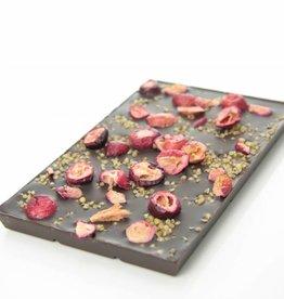 Dark chocolate with cranberry and quinoa