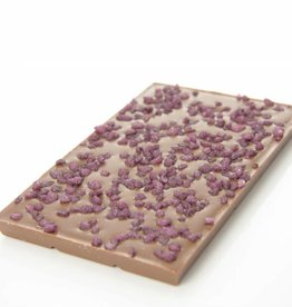 Milk chocolate with Cuberdon crunch
