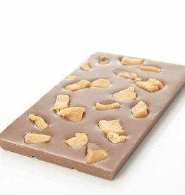 Melkchocolade met stukjes caramel