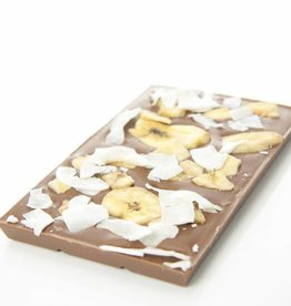 Milk chocolate with banana and coconut