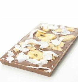 Milk chocolate with banana and coconut