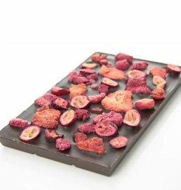 Pure chocolade met rode vruchten mix