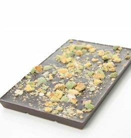 Pure chocolade met wasabi pinda's