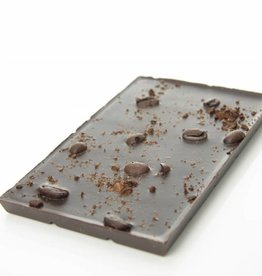 Dark chocolate with roasted coffee beans