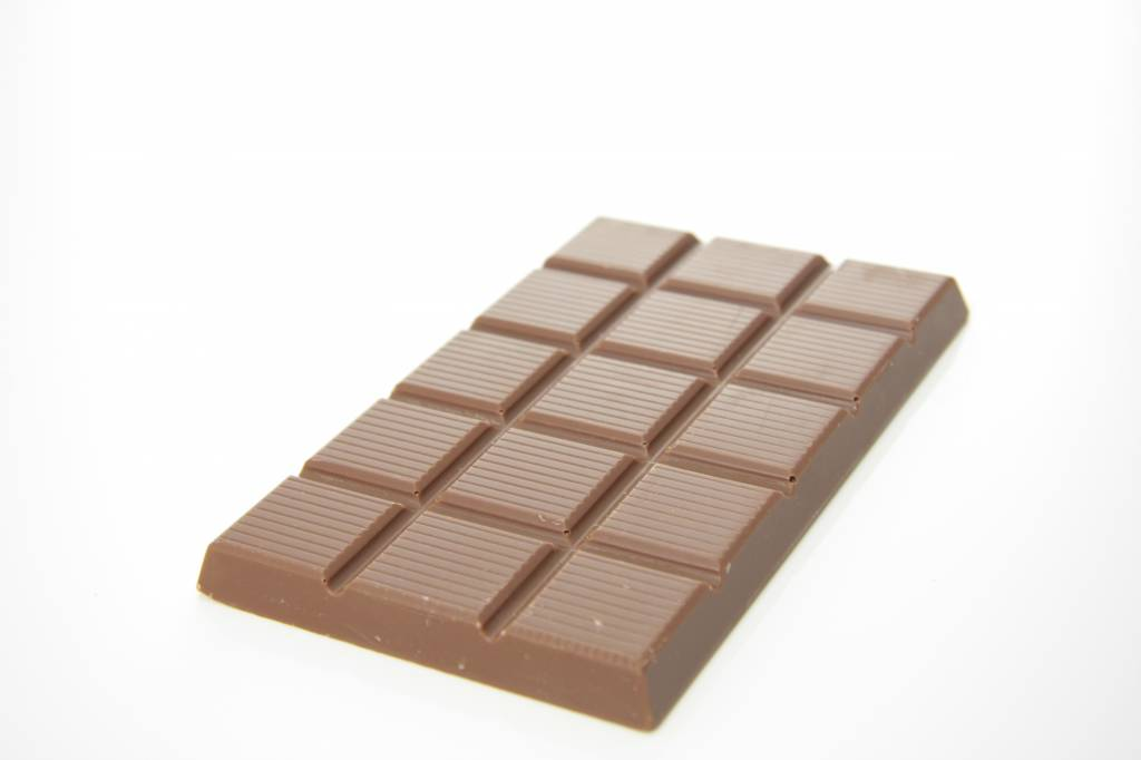 A bar of milk chocolate