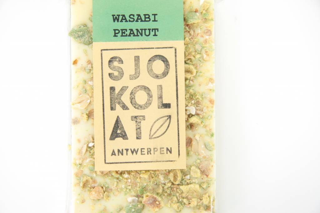 Tablet witte chocolade met wasabi pinda's