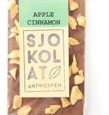Tablet melkchocolade met appel en kaneel