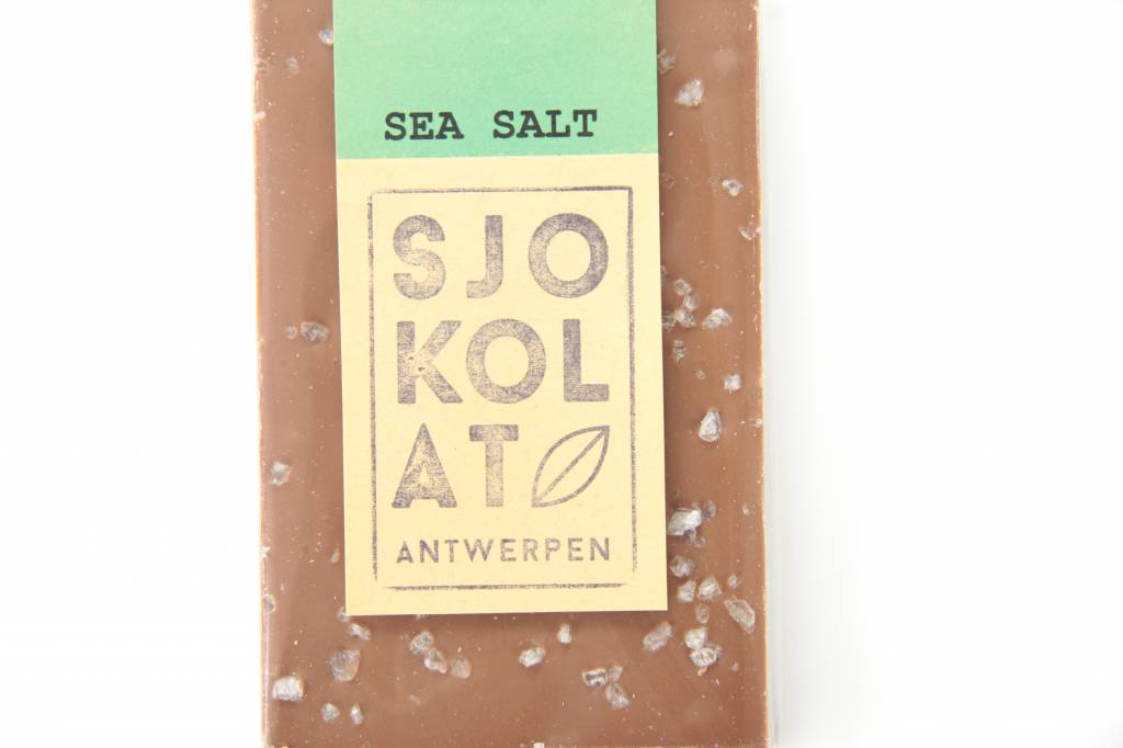 A bar of milk chocolate with sea salt