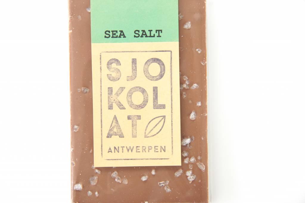 Tablet melkchocolade met zeezout