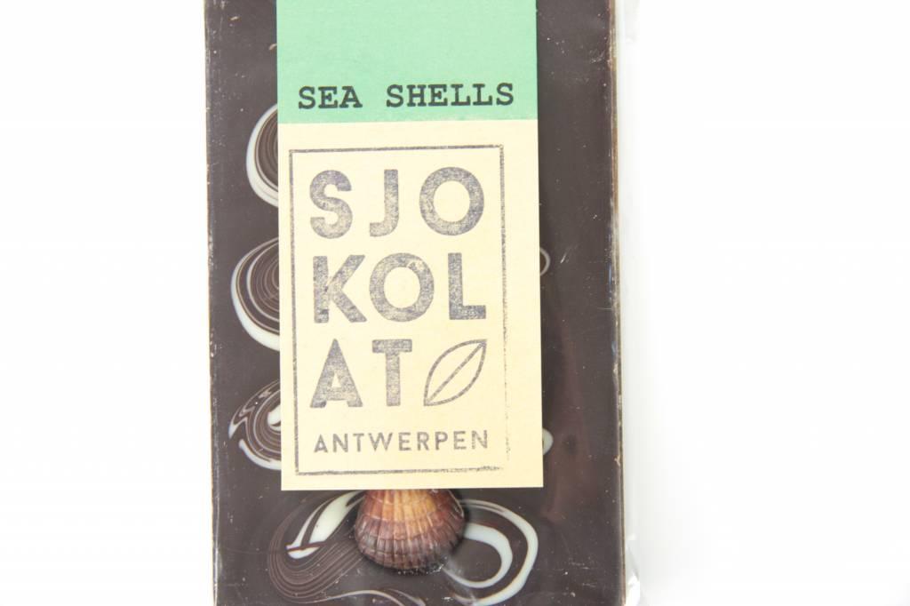 Tablet pure chocolade met zeevruchten