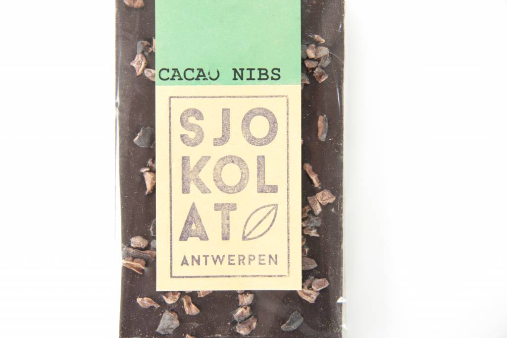 Tablet pure chocolade met cacao nibs