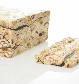 Soft nougat with cranberry and chocolate