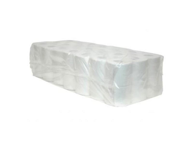 Eigen merk Toiletpapier Traditioneel, 400 vel, 2-laags, recycled tissue wit, 40 rollen