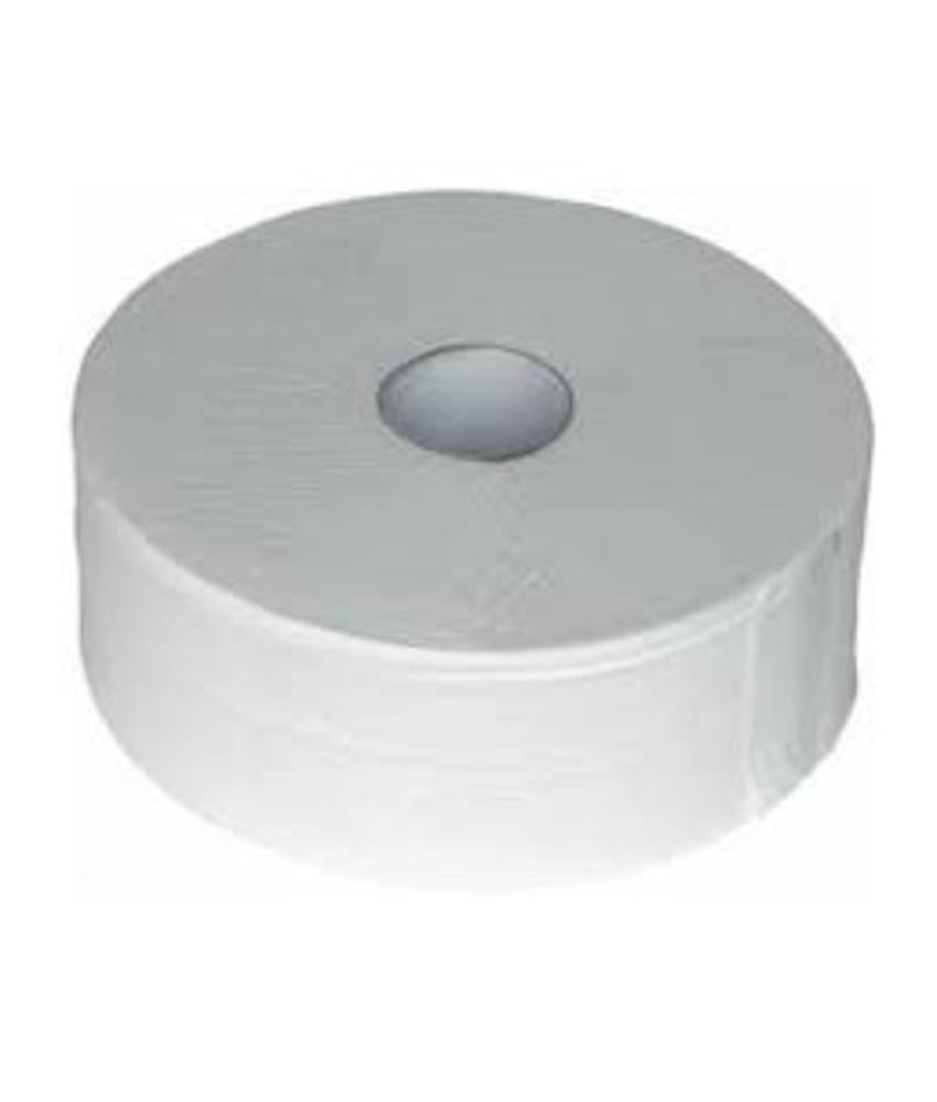 Toiletpapier Jumbo Maxi, 6x 380M, 2-laags, cellulose, wit