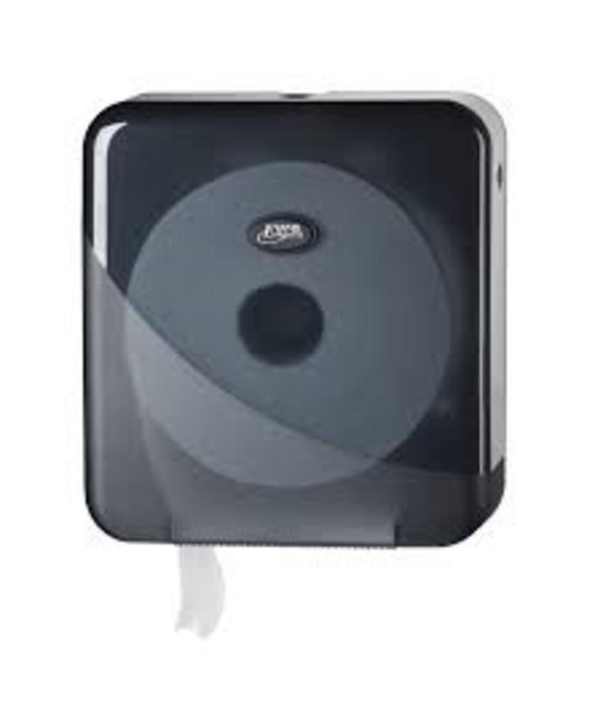 Dispenser Toiletpapier jumbo maxi, zwart