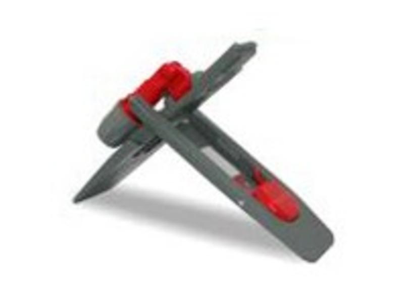 Arcora Kunststof klaphouder met klem MAGNEET, 40x11cm