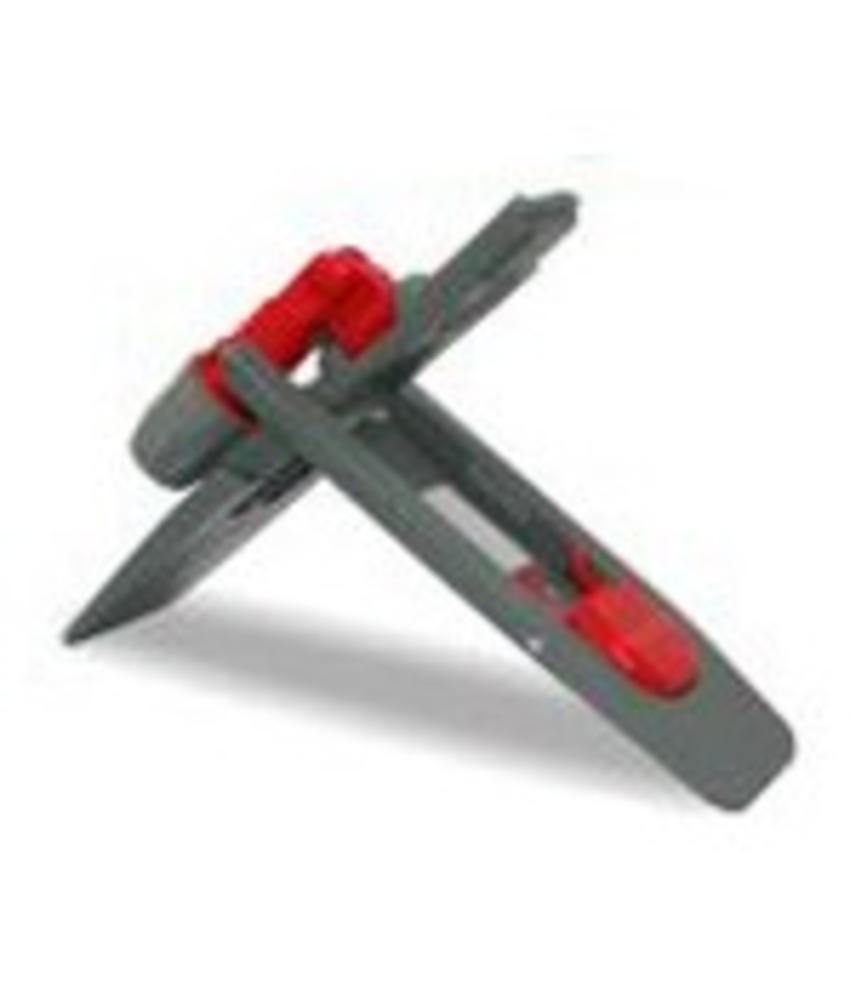 Kunststof klaphouder met klem MAGNEET, 40x11cm
