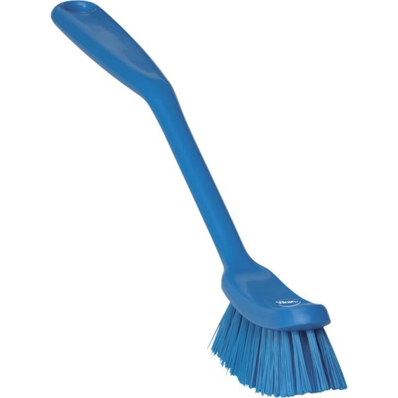 Vikan Smalle vaatwasborstel, Medium, 290x25x65mm blauw