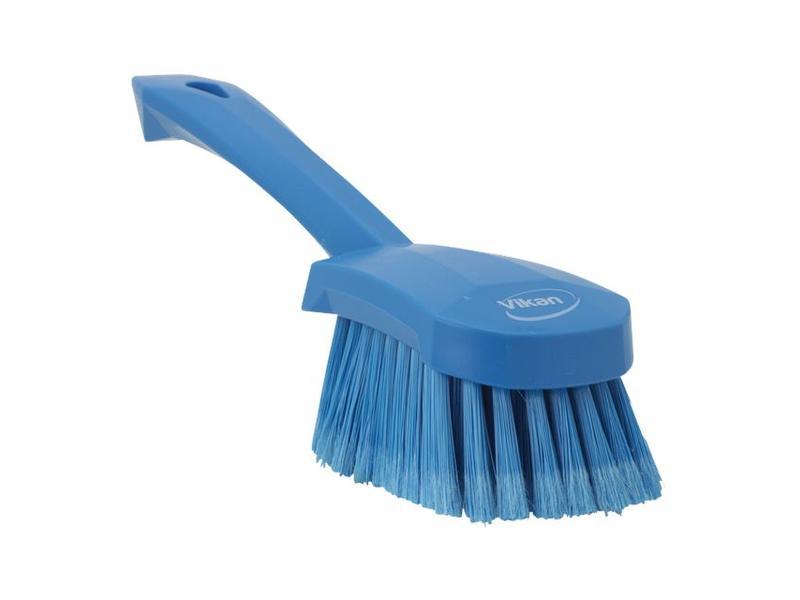 Vikan Vikan Afwasborstel met korte steel, zacht, 270x70x85mm blauw
