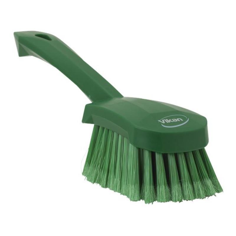 Vikan Afwasborstel met korte steel, zacht, 270x70x85mm groen