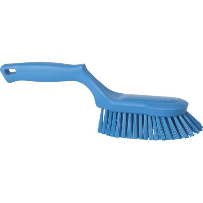 Vikan Ergonomische handborstel polyester vezels, hard 330x95x110mm blauw