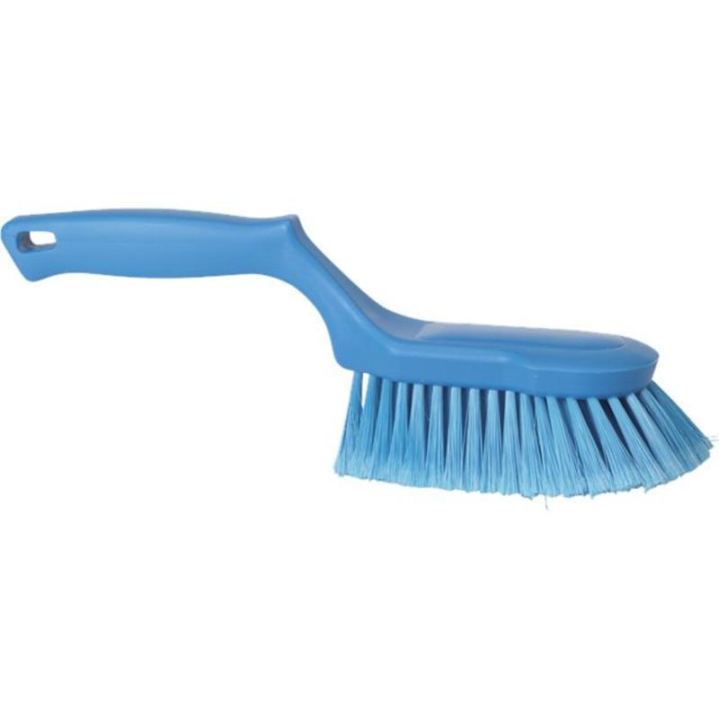Vikan Ergonomische handborstel polyester vezels, zacht, 330x105x110mm blauw
