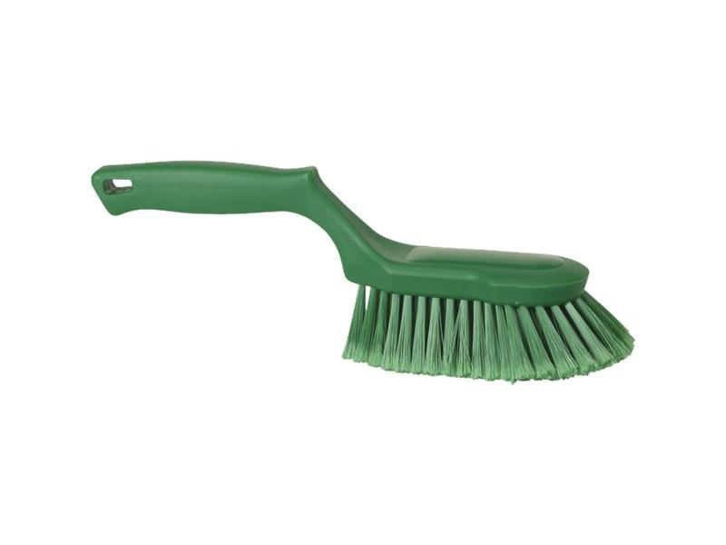 Vikan Vikan Ergonomische handborstel polyester vezels, zacht, 330x105x110mm groen