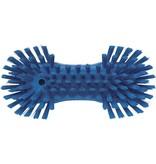 Vikan Vikan Grote ergonomische werkborstel polyester vezels, hard, met wijd uitstaande vezels 250x120x60mm blauw