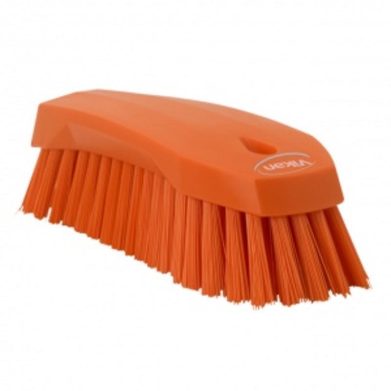 Vikan Grote werkborstel polyester vezels, hard 200x70x60mm oranje