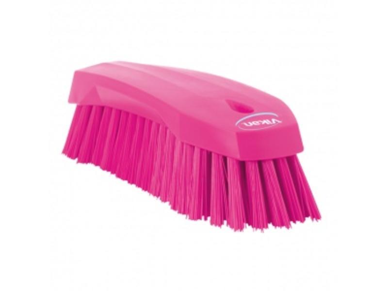 Vikan Vikan Grote werkborstel polyester vezels, hard 200x70x60mm roze