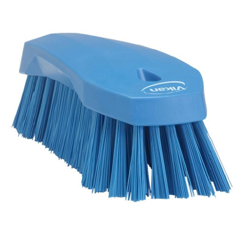 Vikan Grote werkborstel polyester vezels, hard 200x70x60mm blauw