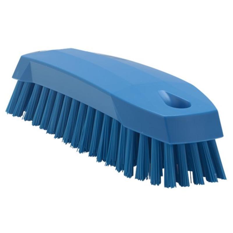 Vikan Kleine werkborstel polyester vezels, medium 165x50x45mm blauw