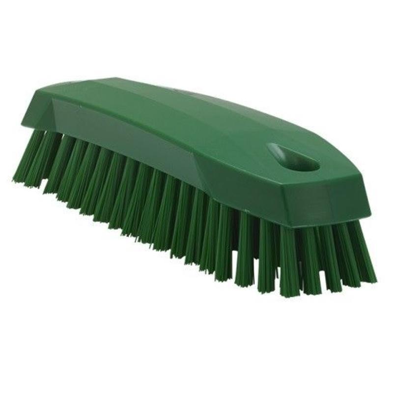 Vikan Kleine werkborstel polyester vezels, medium 165x50x45mm groen