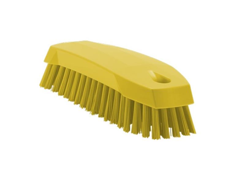 Vikan Vikan Kleine werkborstel polyester vezels, medium 165x50x45mm geel