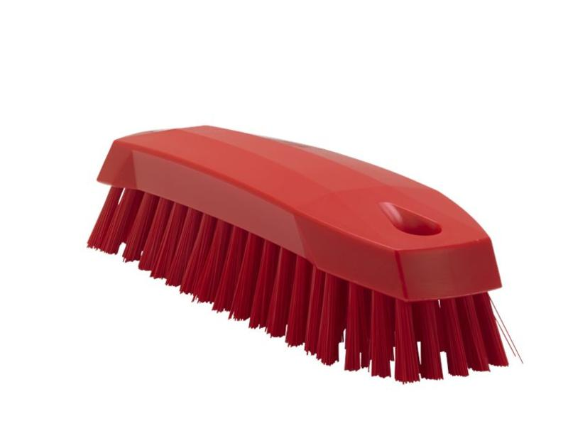 Vikan Vikan Kleine werkborstel polyester vezels, medium 165x50x45mm rood