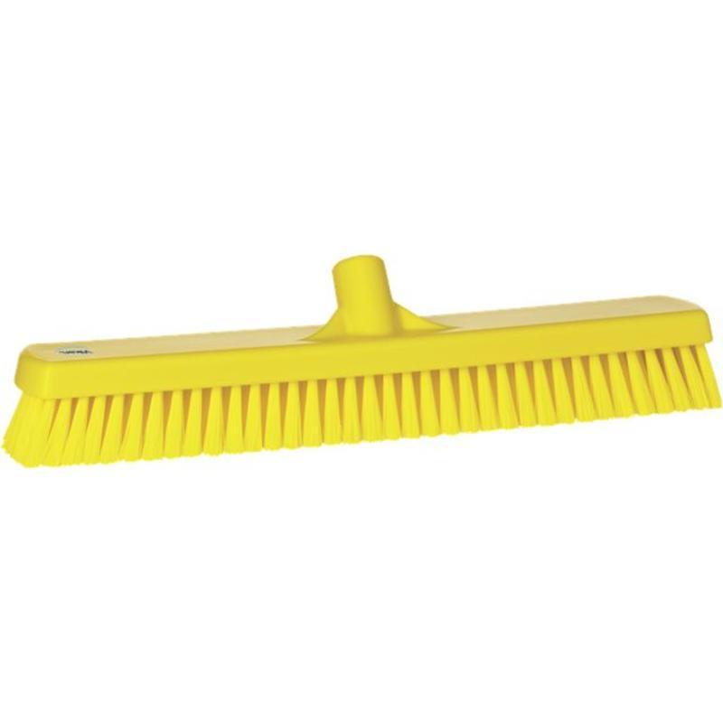 Vikan, Vloerschrobber hard, breed, 470x115x80mm, geel