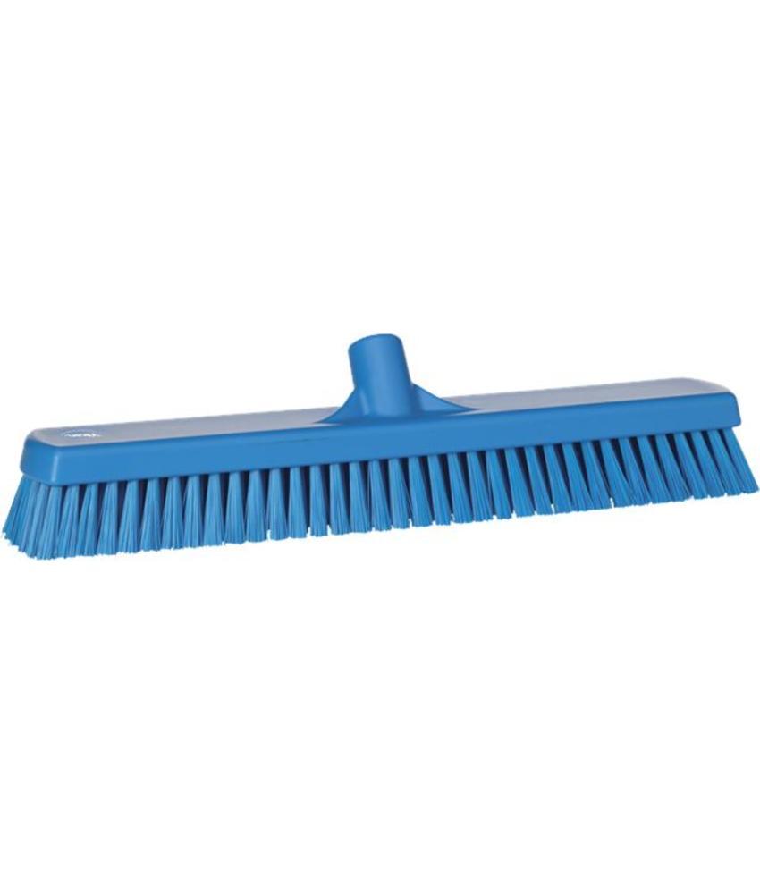 Vikan, Vloerschrobber hard, breed, 470x115x80mm, blauw