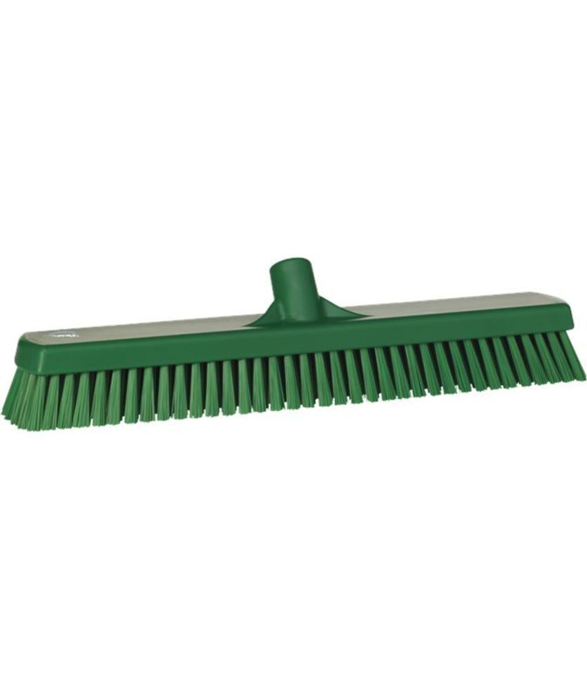 Vikan, Vloerschrobber hard, breed, 470x115x80mm, groen
