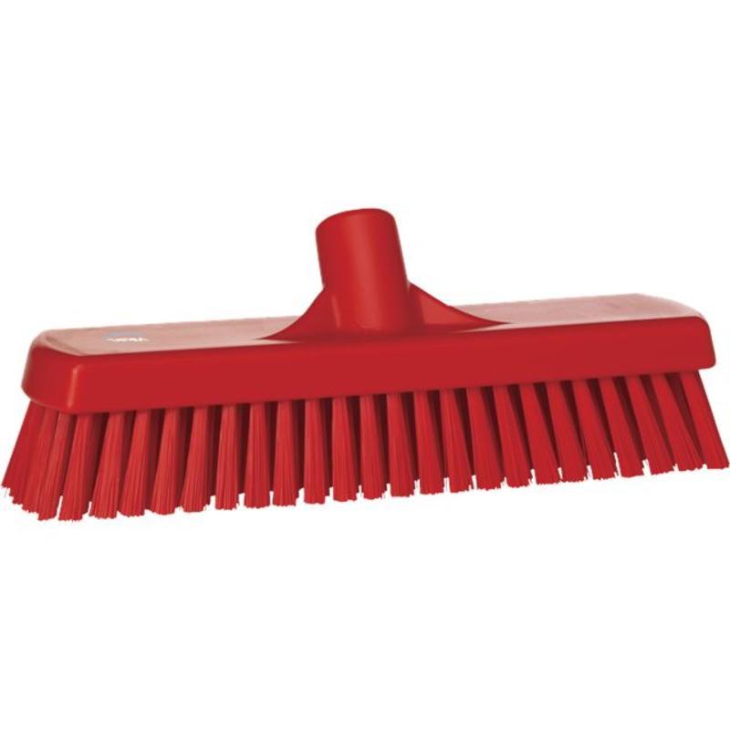 Vikan, Vloerschrobber hard, 305x110x85mm, rood