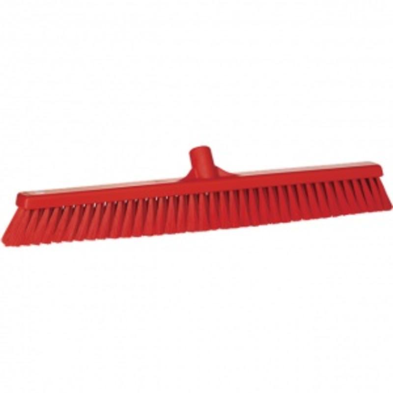 Vikan, Zachte veger breed ,610x125x65mm, rood