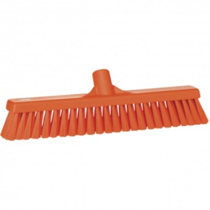 Vikan, Zachte veger, polyester vezels, 43x130x65mm oranje
