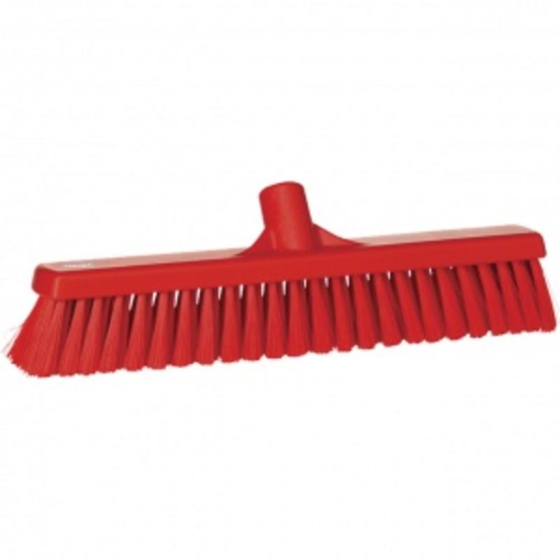 Vikan, Zachte veger, polyester vezels, 43x130x65mm rood