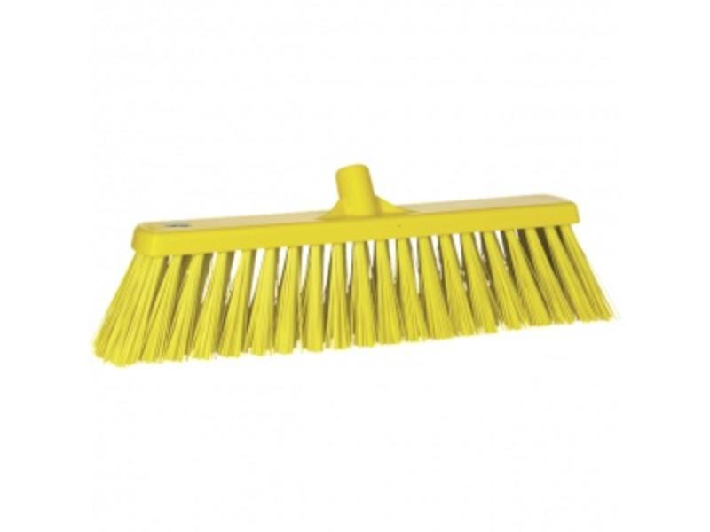 Vikan Vikan,Brede bezem, polyester vezels, hard, 530x175x90mm, geel
