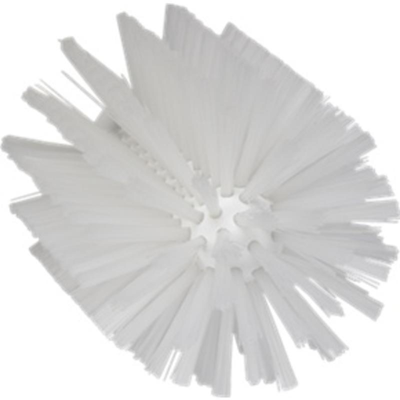 Vikan Pijpborstel, steelmodel, ø103 mm, medium, wit