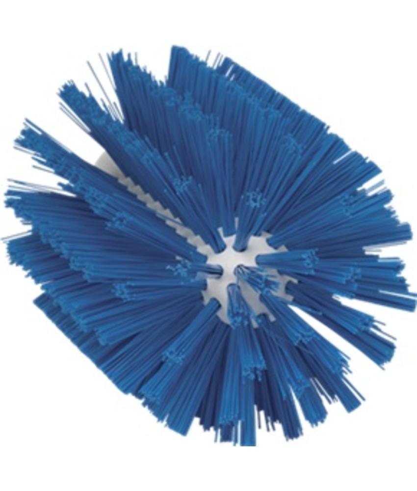 Vikan Pijpborstel, steelmodel, ø103 mm, medium, blauw