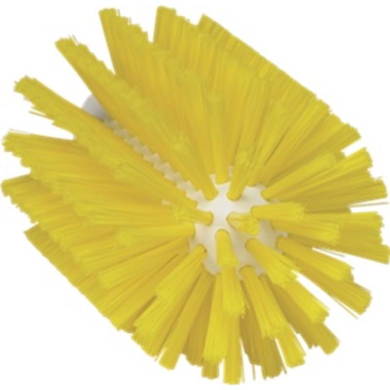 Vikan Pijpborstel, steelmodel, ø90 mm, medium, geel
