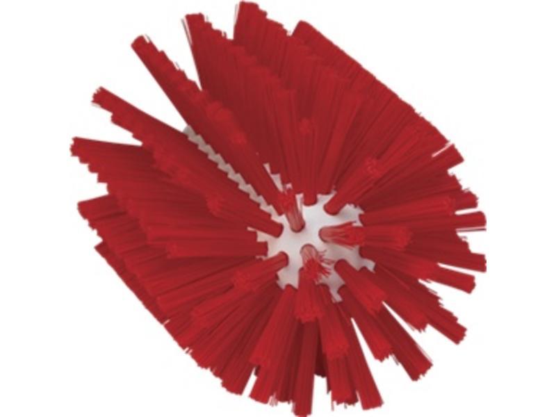Vikan Vikan Pijpborstel, steelmodel, ø90 mm, medium, rood