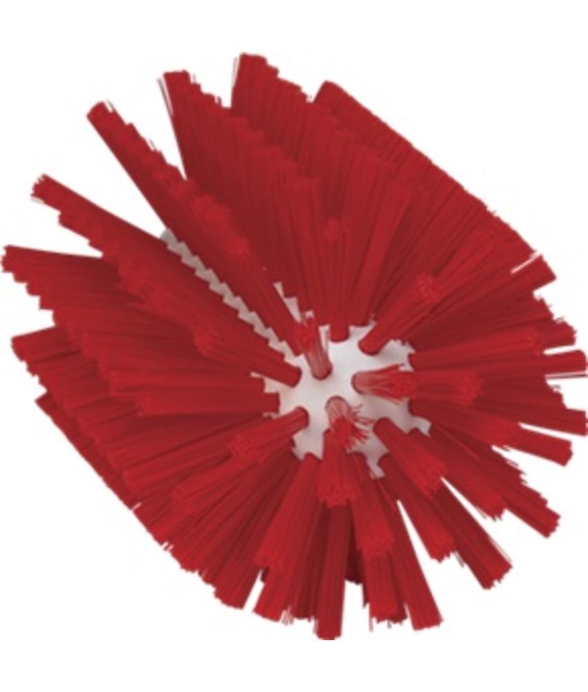 Vikan Pijpborstel, steelmodel, ø90 mm, medium, rood