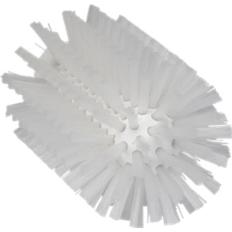 Vikan Pijpborstel, steelmodel, ø77 mm, medium, wit