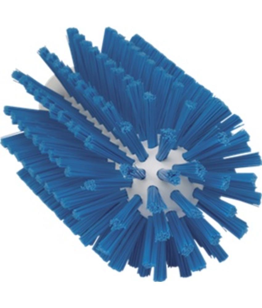 Vikan Pijpborstel, steelmodel, ø77 mm, medium, blauw